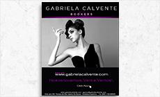 Diseño de Mailing  - Agencia de Modelos Gabriela Calvente Bookers