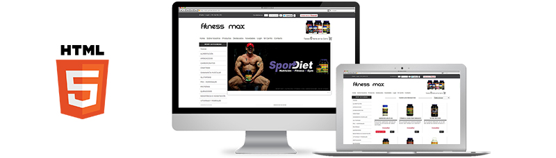 E-commerce - Fitness Max Suplementos - Diseño Web